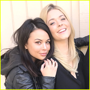 Janel Parrish & Sasha Pieterse Are Back as Mona & Ali For 'The Perfectionists' First Day of Filming