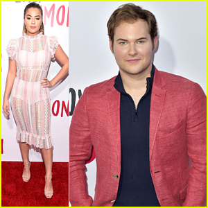 13 Reasons Why's Justin Prentice Supports Katherine Langford & Miles Heizer at 'Love, Simon' Premiere in LA
