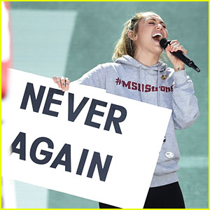 Miley Cyrus Says Never Again, Performs 'The Climb' at March for Our Lives - Watch Now