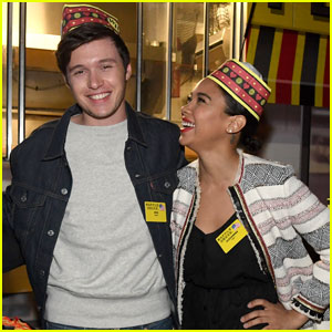 Nick Robinson & Alexandra Shipp Celebrate 'Love, Simon' With Waffle House!