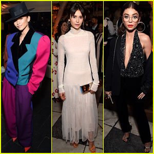 Zendaya Stuns in Colorful Blazer & Top Hat at Pre-Oscars 2018 Party