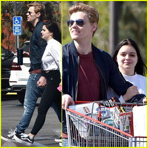 Ariel Winter & Levi Meaden Rock Matching Shoes While Shopping at Costco