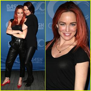 Caity Lotz & Chyler Leigh Reunite at ClexaCon in Las Vegas