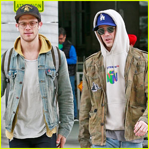Grant Gustin Greets BFF Kyle Harris at Airport After Pilot Casting