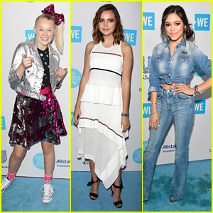 JoJo Siwa Hits Up WE Day California 2018 with Bailee Madison & Jenna Ortega