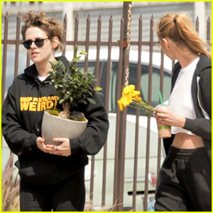 Kristen Stewart Picks Up a Bonsai Tree with Stella Maxwell