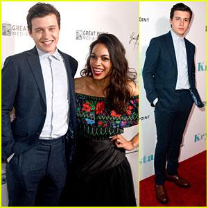 Nick Robinson Has Fun On Red Carpet at 'Krystal' Premiere