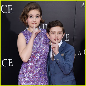 Millicent Simmonds & Noah Jupe Stay Silent at 'A Quiet Place' Premiere!