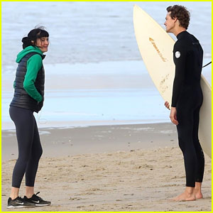Shailene Woodley Chats It Up With Douglas Smith on 'Big Little Lies' Set