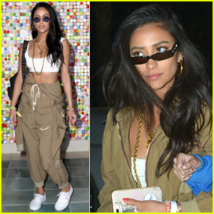 Shay Mitchell Rocks the Coolest Jumpsuit at Coachella!
