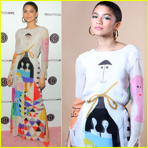 Zendaya Gets Colorful at Beautycon 2018!