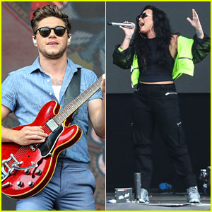 Niall Horan & Demi Lovato Perform On Stage at Biggest Weekend Music Festival!