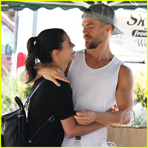 Derek Hough & Hayley Erbert Stop by Farmer's Market Before Trip Up The Coast