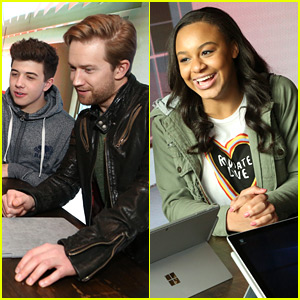 Nia Sioux Joins Bradley Steven Perry & Jason Dolley at Surface Young Hollywood Event