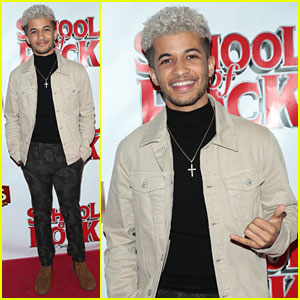 Jordan Fisher Checks Out 'School of Rock' at Pantages Theatre