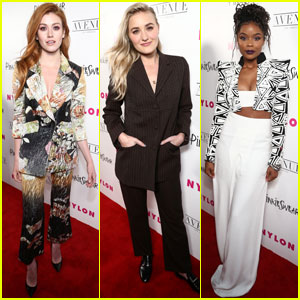 Katherine McNamara, AJ Michalka & Ajiona Alexus Get Glam For 'Nylon' Young Hollywood Party