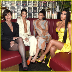 Kendall & Kylie Jenner Get Glam For Dinner With Kim Kardashian