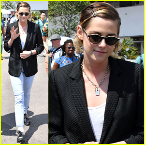 Kristen Stewart Goes For A Walk Around Cannes Film Festival