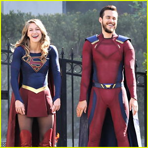 Melissa Benoist & Boyfriend Chris Wood Are Having So Much Fun on the 'Supergirl' Set!