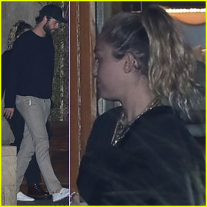 Miley Cyrus & Liam Hemsworth Have Late Night Out With Friends