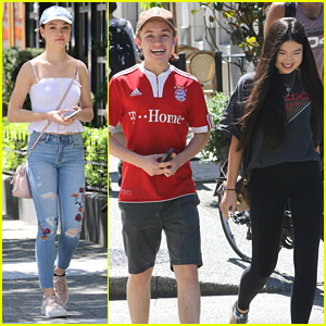 Erika Tham Takes Break From Filming 'Kim Possible' Movie With Co-star Sean Giambrone