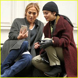Vanessa Hudgens Films Stoop Scenes With Jennifer Lopez for 'Second Act'