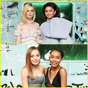 Elle Fanning Joins Zendaya, Yara Shahidi, & More at Tiffany & Co.'s Paper Flowers Launch
