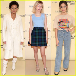 Amandla Stenberg, Grace VanderWaal & Jenna Ortega Step Out For Teen Vogue Summit