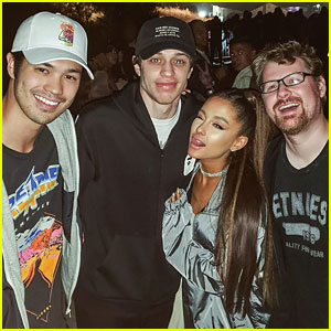 Ross Butler Meets Up With Ariana Grande & Pete Davidson at Kanye West's Album Listening Event!