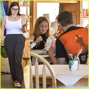 Ariel Winter Joins Niece Skylar & Boyfriend Levi Meaden For Clay Art Session