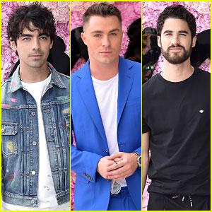 Joe Jonas, Colton Haynes, & Darren Criss Show Off Unique Styles at Dior Homme Show!