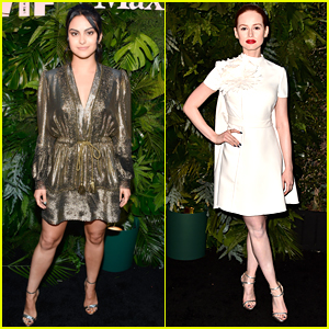 Camila Mendes & Madelaine Petsch Go Glam for Max Mara's Face of the Future 2018!