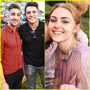 Casey Cott & AnnaSophia Robb Attend Florence + The Machine Album Release Party
