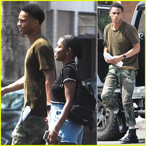 Keith Powers Holds Hands With Girlfriend Ryan Destiny While Running Errands