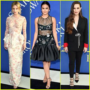 Lili Reinhart & Camila Mendes Join Katherine Langford at CFDA Fashion Awards 2018