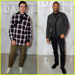 Nick Robinson & Algee Smith Look Sharp at Prada Fashion Show!