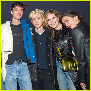 Troye Sivan Joins Rowan Blanchard at 'Alien' Cinespia Screening
