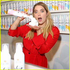 Ashley Benson Tries Out Olay's New Body Wash at Beautycon 2018