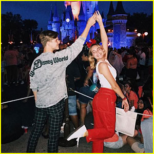 Bailee Madison Twirling With Alex Lange at Disney World is a Mood