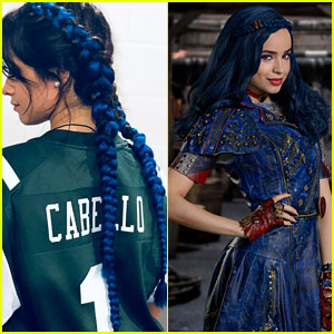 Camila Cabello Rocks Sofia Carson's Blue Evie Hair From 'Descendants'
