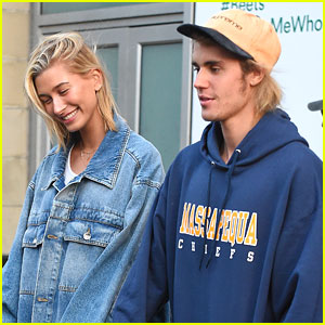Justin Bieber & Hailey Baldwin Pick Up Groceries at Whole Foods