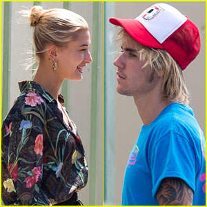 Justin Bieber & Hailey Baldwin Catch a Flight Out of Miami