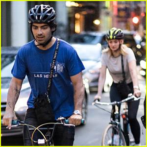 Joe Jonas & Sophie Turner Ride Their Bikes Home After Getting Tattoos!