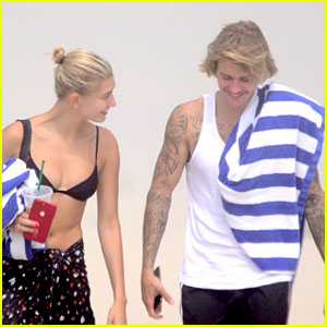Justin Bieber Hits the Beach in the Hamptons with Hailey Baldwin!