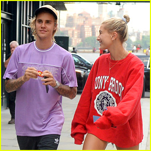Justin Bieber & Hailey Baldwin Check Out a Movie in NYC