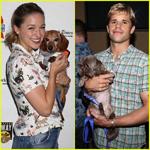 Melissa Benoist Helps Adopt Pets at Broadway Barks 2018