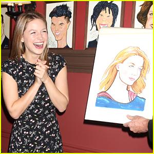 Melissa Benoist Had the Cutest Reaction to Seeing Her Sardi's Portrait!