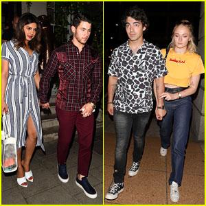 Nick & Joe Jonas Have a Double Date Night in London for Priyanka Chopra's Birthday!
