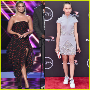 Olivia Holt & Sky Katz Go Glam for ESPY Awards 2018!