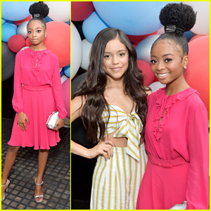 Skai Jackson & Jenna Ortega Have Fun Girl's Night Out at David Yurman's Pinky Ring Party